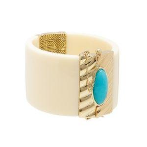 NWT House of Harlow Ivory Hinge Bracelet